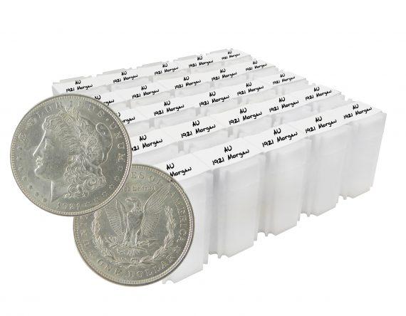 1921 Silver Morgan Dollar AU Lot of 500 Coins