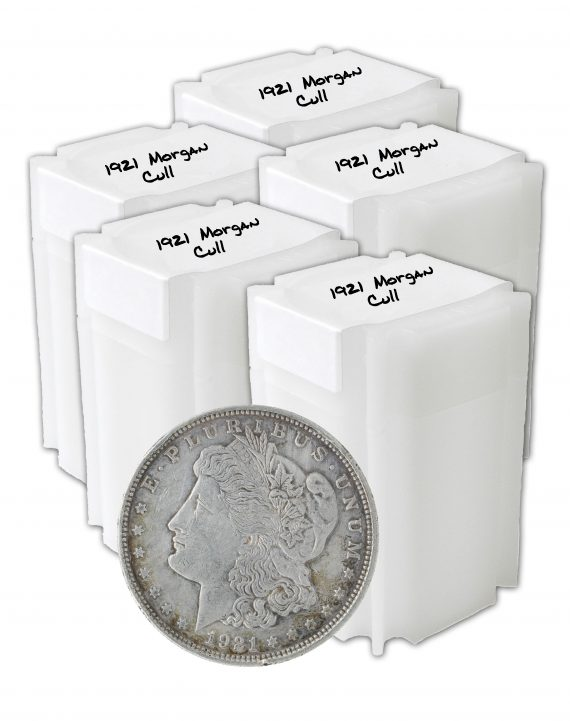 1921 Silver Morgan Dollar Cull Lot of 100 Coins