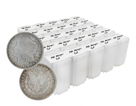 1921 silver morgan dollar cull lot of 500