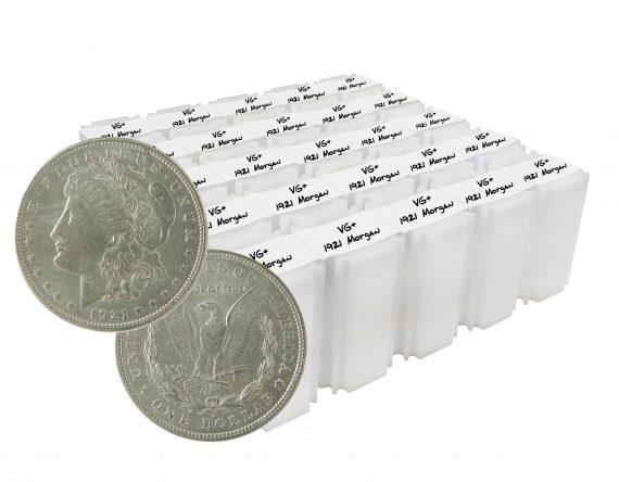 1921 Silver Morgan Dollar VG+ Lot of 1000 Coins