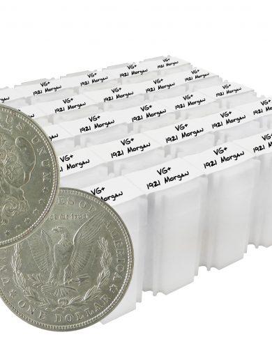 1921 Silver Morgan Dollar VG+ Lot of 500 Coins