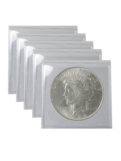 1922 Silver Peace Dollar BU Lot of 5 Coins