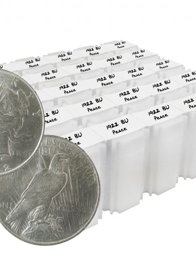 1922 Peace Dollar BU Lot of 500 Silver Coins