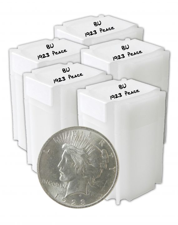 1923 Peace Dollar BU Lot of 100 Silver Coins