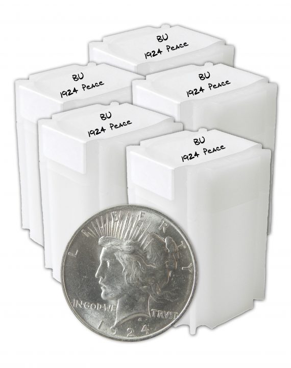 1924 Silver Peace Dollar BU lot of 100 Coins
