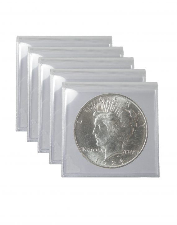 1924 Silver Peace Dollar BU Lot of 5 Coins