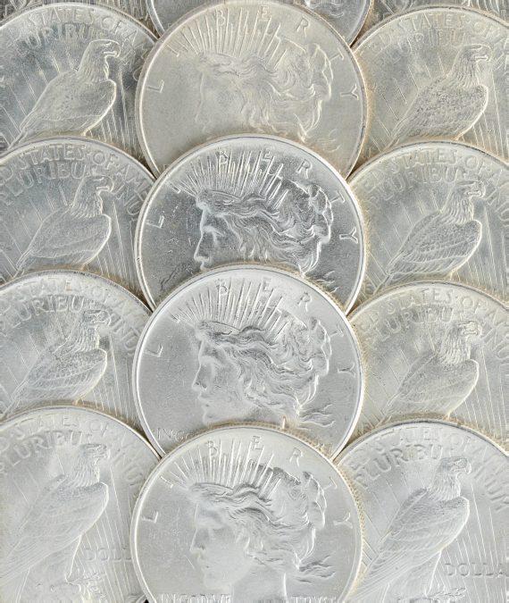 1924 Silver BU Peace Dollars Obv