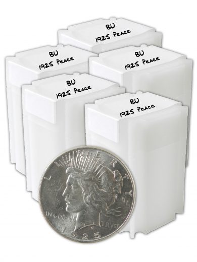 1925 Silver Peace Dollar BU Lot of 100 Coins