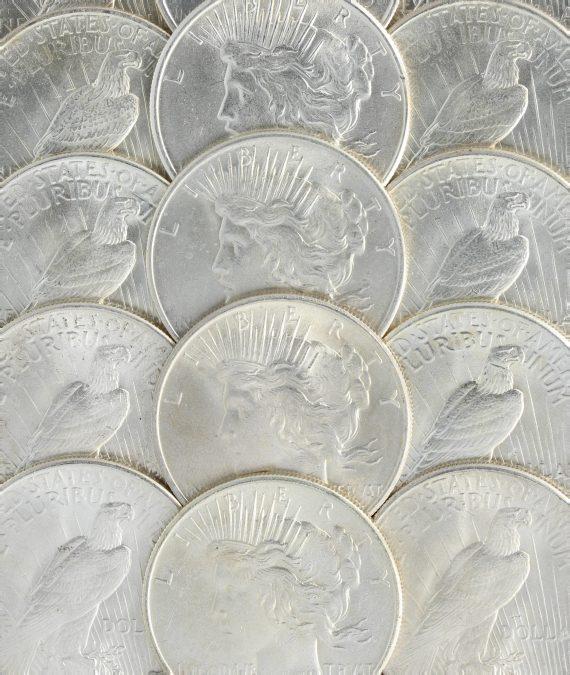 1925 Silver Peace Dollar BU Obv