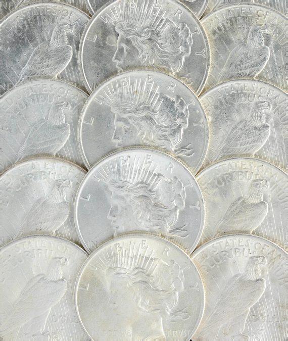 1923 Peace Dollar BU Reverse