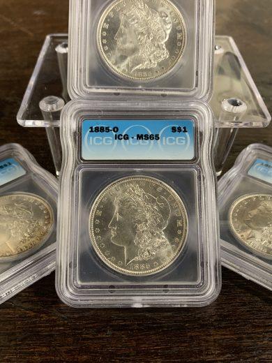 1878 to 1904 Morgan MS65 Dollar ICG Lot of 100