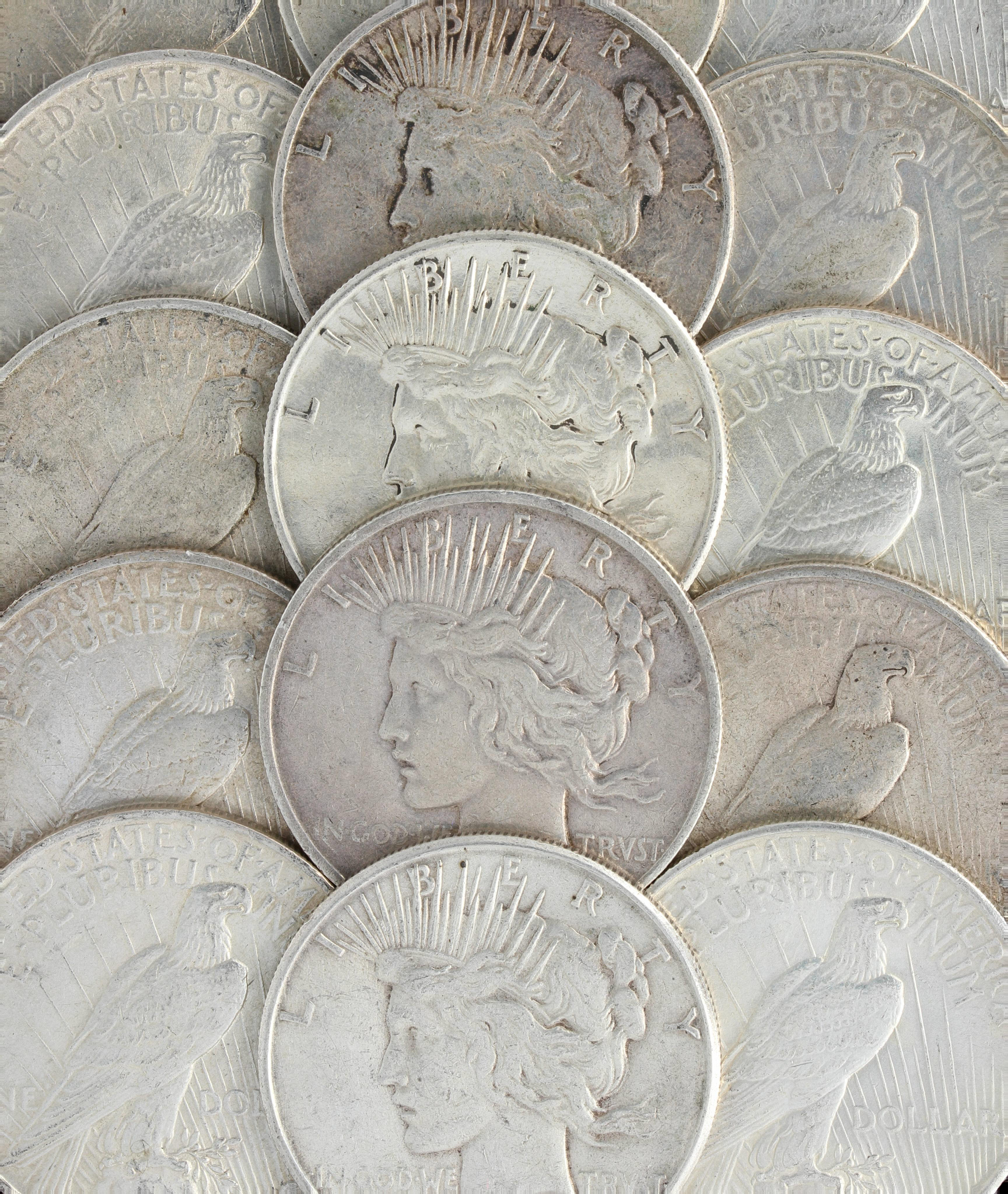 Peace Silver Dollars US Coin lot AU or Better Choose How Many!