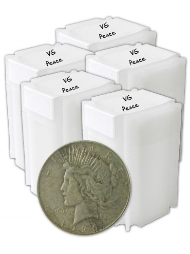 1922-1935 silver peace dollars vg+ lot of 100 coins