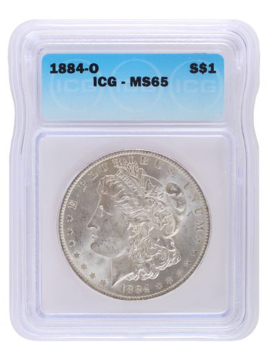 1878 - 1904 Morgan Dollar MS65 ICG Sample
