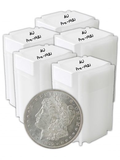 Pre 1921 Morgan AU Dollar lot of 100 Coins