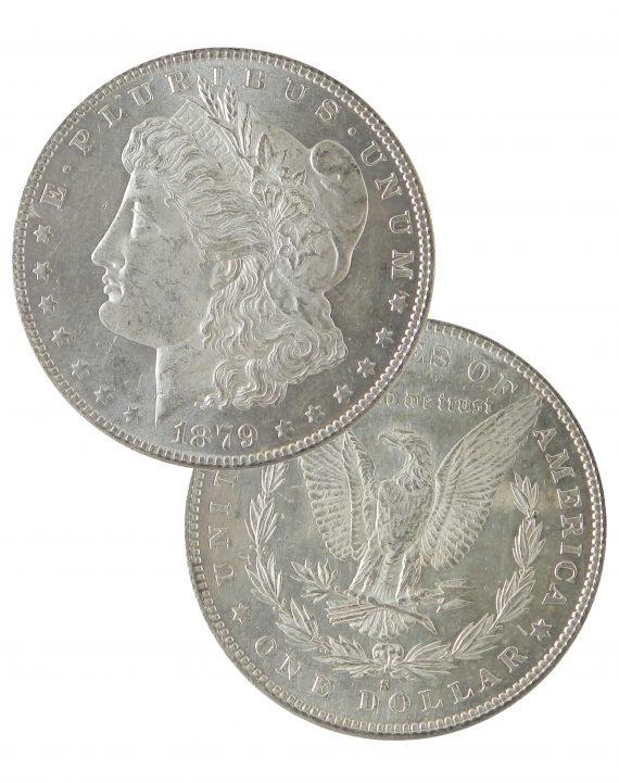 Pre 1921 Silver Morgan Dollar AU Dual
