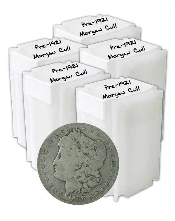 Pre 1921 Silver Morgan Dollar Cull Lot of 100 Coins