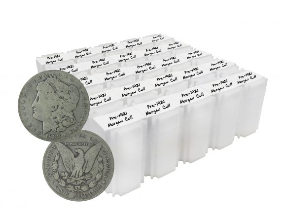 Pre 1921 Silver Morgan Dollar Cull Lot of 500 Coins