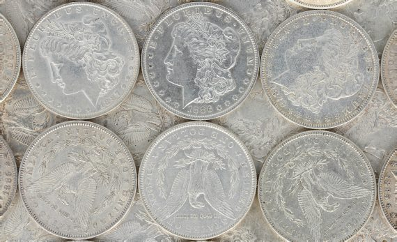 Pre 1921 Morgan Dollar XF lot 1
