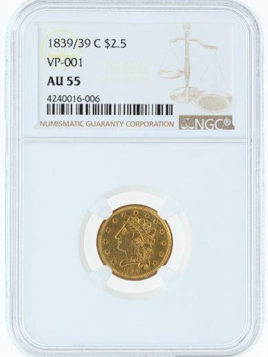 1839/39-C NGC AU55 $2.5 16006