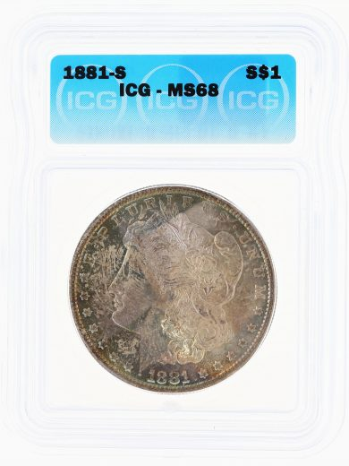 1881-S Morgan Dollar MS68 ICG S$1 obv