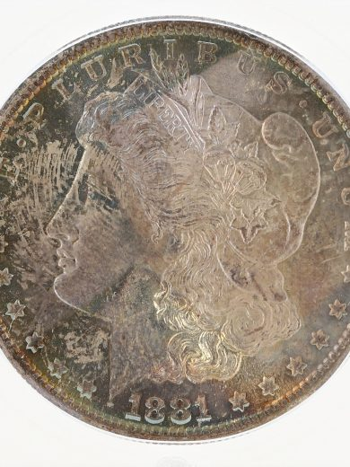 1881-S Morgan Dollar MS68 ICG S$1 obv zm