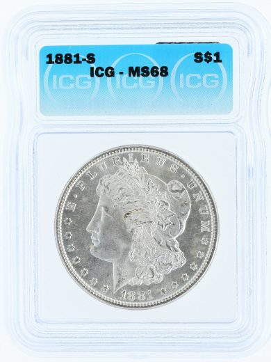 1881-S Morgan Dollar MS68