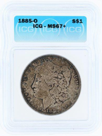 1885-O ICG MS67+ S$1 Silver 70303