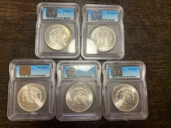 1878-S to 1882-S MS65 S$1 Set
