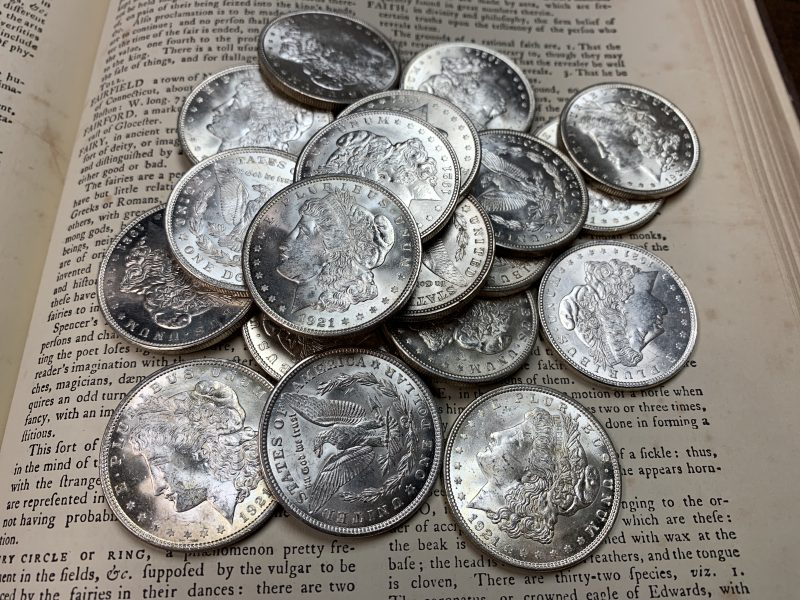 Coins 101:  1921 Silver Morgan Dollars
