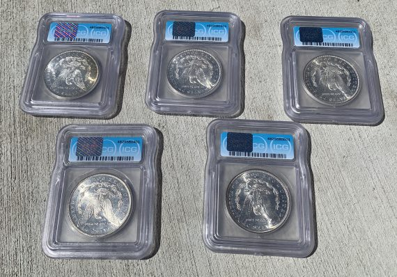 1878-S - 1882-S Morgan Dollar MS65 Set rev