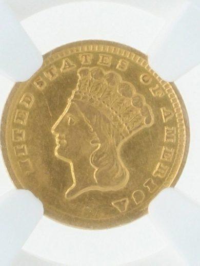 1861-D Gold Dollar NGC AU Details Cleaned obv-zm