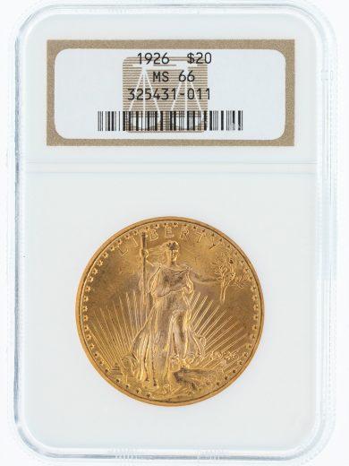 1926 NGC MS66 $20 Saint Gaudens