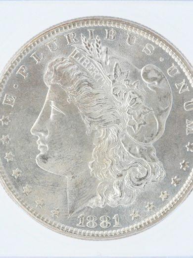 1881-S ICG MS67+ S$1 90102 revzm
