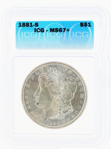1881-S Morgan Dollar ICG MS67+ S$1 obv