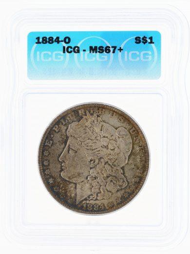 1884-O Morgan ICG MS67+ S$1 Silver Dollar obv