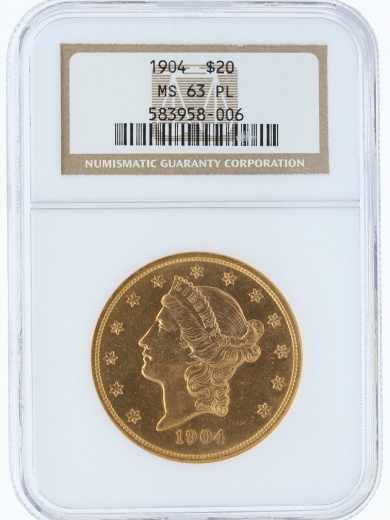 1904 PL Double Eagle NGC MS63 obv