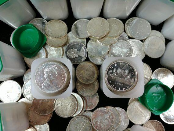 canadian silver dollar overhead