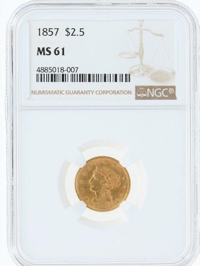 1857-quarter-eagle-ngc-ms61/18007/obv