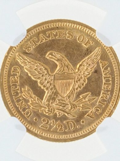 1857 Quarter Eagle NGC MS63 $2.5/22006 rev.zm