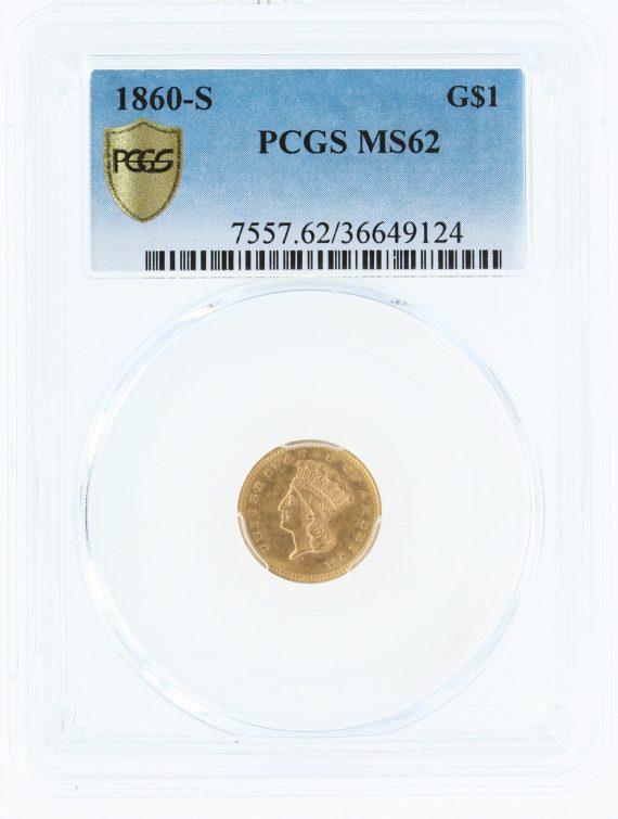 1860-S PCGS MS62 G$1 49124 obv