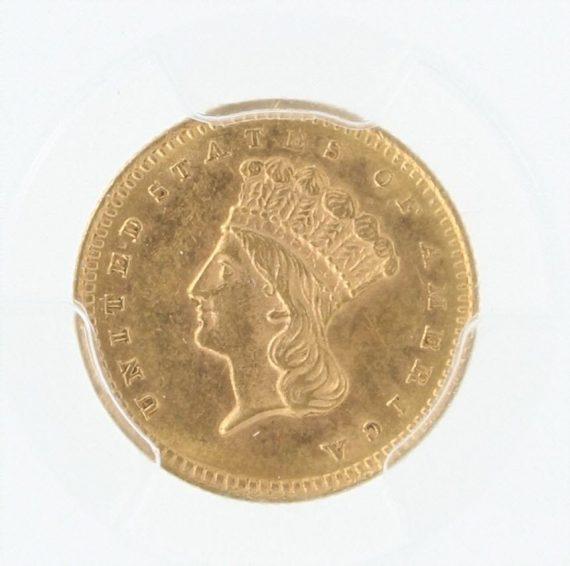 1860-S PCGS MS62 G$1 49124 obv-zm