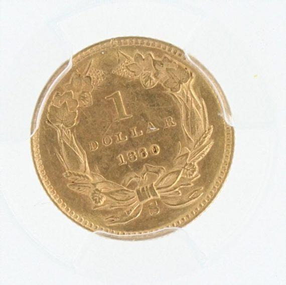 1860-S PCGS MS62 G$1 49124 rev-zm