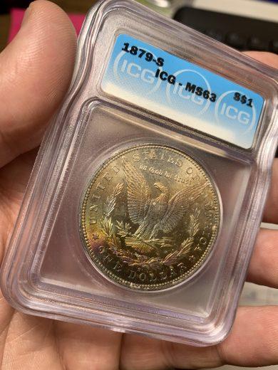 1879-S ICG MS63 S$1 toner
