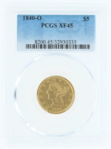 1840-o-pcgs-xf45-5/30335/obv
