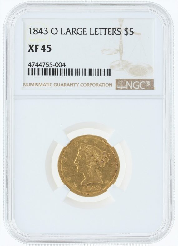 1843-o-large-letters-ngc-xf45-5/55004/obv