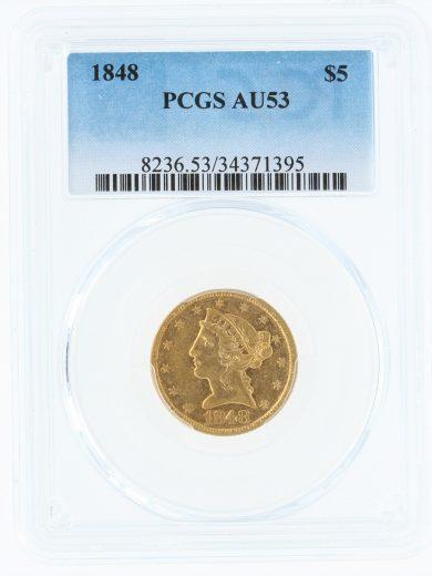 1848-pcgs-au53-5/71395/obv