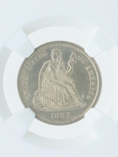 1866 Seated Liberty NGC MS66 10C 03007 obv-zm