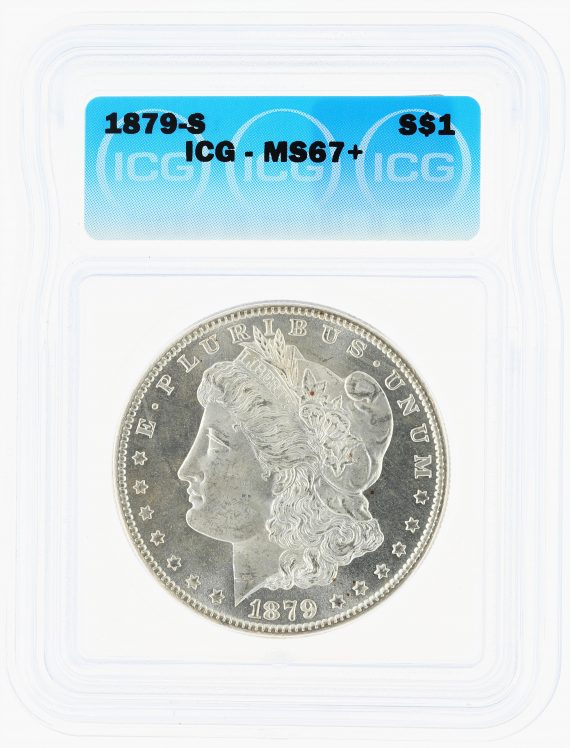 1879-S Morgan Dollar ICG MS67+ S$1 obv