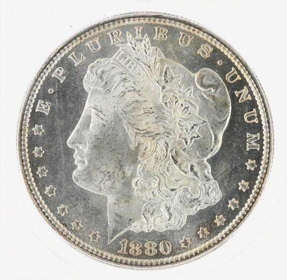 1880-S Morgan Dollar ICG MS67+ S$1 obv zm